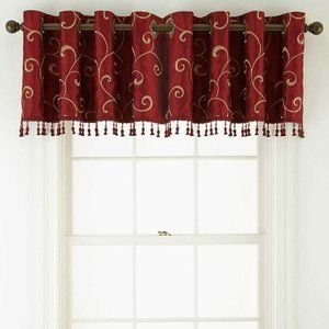 JCpenney Grommet Tailored Plaza Embroidery Valance